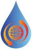 Vattendropplogo Royaltyfria Foton