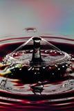 Vattendroppsammanstötning Arkivfoto