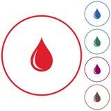 Vattendroppsymbol arkivfoton