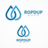 Vattendroppsymbol eller logo Arkivbild