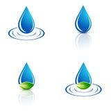 Vattendroppuppsättning Royaltyfri Foto