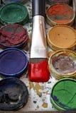 vattenfärg Arkivfoto