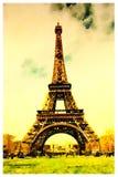 Vattenfärg av Eiffeltorn Arkivfoto