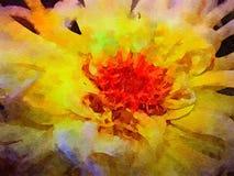 Vattenfärg av en Spidermum Arkivbild