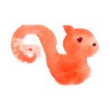 Vattenfärg för ekorre (samlingsdjur) Arkivbilder