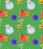 Vattenfärg för julbakgrundsgräsplan Royaltyfri Bild