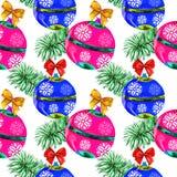 Vattenfärg för julbakgrundsvit Royaltyfri Fotografi