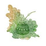 Vattenfärg för kalebass för Yerba kompiste vektor illustrationer