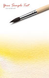 vattenfärg för konstnärborstemålarfärg royaltyfri fotografi