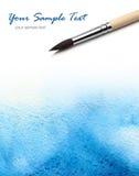 vattenfärg för konstnärborstemålarfärg arkivfoton