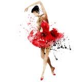 Vattenfärg för ljus bild för dansballerina härlig Fotografering för Bildbyråer