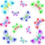 Vattenfärg hand-målad illustration av fjärilar Fotografering för Bildbyråer