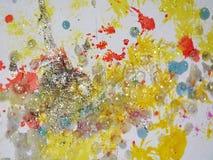 Vattenfärg i mousserande toner och färger Arkivfoton
