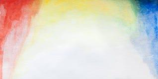 Vattenfärg i vita canson stock illustrationer