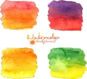 Vattenfärg målad banervektoruppsättning Royaltyfri Foto