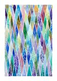 Vattenfärg målad geometrisk granskog Royaltyfria Foton