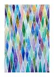 Vattenfärg målad geometrisk granskog Arkivbilder