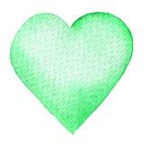 Vattenfärg målad röd hjärta Beståndsdel för vykort för kort eller för romantiker för dag för designvalentin` s Royaltyfri Bild