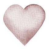 Vattenfärg målad röd hjärta Beståndsdel för vykort för kort eller för romantiker för dag för designvalentin` s Royaltyfri Fotografi