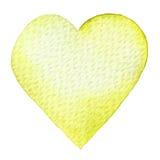 Vattenfärg målad röd hjärta Beståndsdel för vykort för kort eller för romantiker för dag för designvalentin` s Arkivbilder