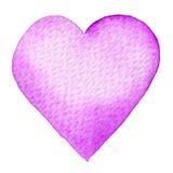 Vattenfärg målad röd hjärta Beståndsdel för vykort för kort eller för romantiker för dag för designvalentin` s Royaltyfri Foto