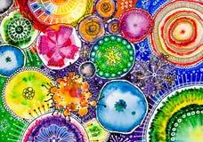 Vattenfärg målad sommarbukett Royaltyfri Foto