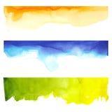 Vattenfärg och färger Arkivfoton