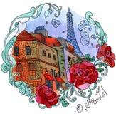 Vattenfärg Paris Arkivfoton