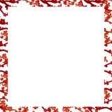 Vattenfärg texturerad ram Körsbärsröd blomning Hand målad illustra Royaltyfria Foton