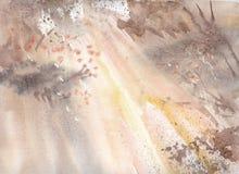 Vattenfärgbakgrund med glimt Arkivbild