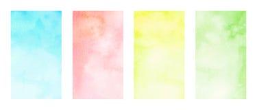 Vattenfärgbakgrunder Arkivfoton