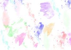 Vattenfärgbakgrundslilor, rosa, grönt som är blåa - illustration arkivbilder
