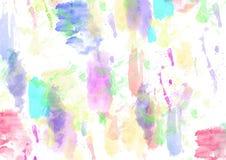 Vattenfärgbakgrundslilor, rosa, grönt som är blåa - illustration royaltyfri illustrationer