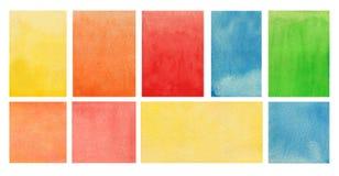 Vattenfärgbakgrundstextur Måla på papper Royaltyfria Bilder