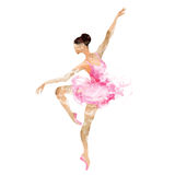 Vattenfärgballerinadans Royaltyfria Bilder