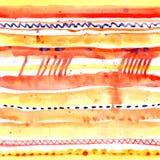 Vattenfärgband Stock Illustrationer