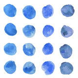 Vattenfärgblåttprickar Arkivfoto