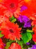 Vattenfärgbukett Royaltyfri Fotografi