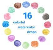 Vattenfärgcirkel Arkivfoton