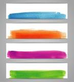 Vattenfärgdesignbaner Arkivfoton