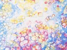 Vattenfärgen bubblar barndom Fotografering för Bildbyråer