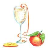 Vattenfärgen för glad jul ritar illustrationen royaltyfri illustrationer