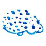Vattenfärgen för igelkott (samlingsdjur) Arkivfoto