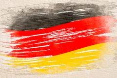 Vattenfärgen skissar målning av Tysklandflaggan royaltyfri illustrationer