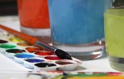 Vattenfärger Arkivfoto