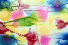 Vattenfärgfärgpulverdesign Arkivbilder