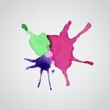Vattenfärgfärgstänk Arkivbilder