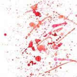 Vattenfärgfärgstänkmodell fotografering för bildbyråer