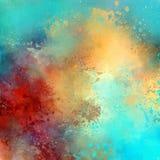 Vattenfärgfantasi stock illustrationer