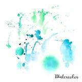 Vattenfärgfläck Arkivfoton